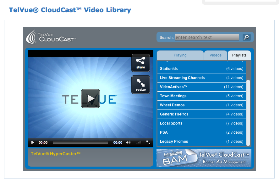 Telvue CloudCast